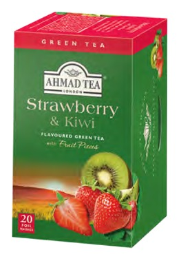 AHMAD TEA STRAWBERRY & KIWI TEA BAGS (1243)
