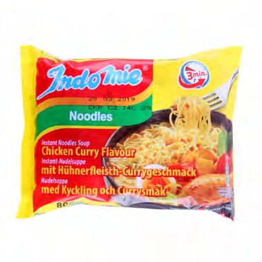 INDOMIE CHICKEN CURRY FLAVOUR NOODLES