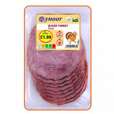 AYNOOR SLICED ROAST TURKEY BREAST